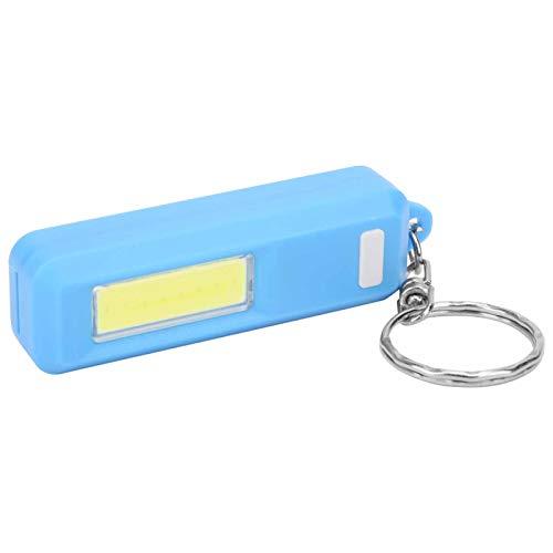Dilwe Linterna del Llavero, Mini Llavero del montañismo al Aire Libre del Bulbo de la MAZORCA con el Llavero de la Mochila de la Linterna de la Emergencia(Azul)