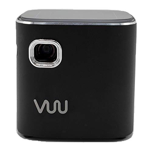 VUU Ultra Mini Portable Projector   WiFi, Bluetooth, Smart TV Remote & Built-in Speaker   Includes Tripod Stand   USB & Wall Charger Included   HMDI Port