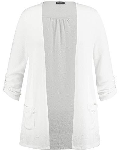 Taifun Damen Jeansjacke Mit Kontrastnähten Figurumspielend Off-White 40