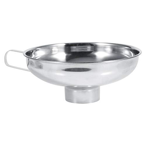 Embudo portátil de acero inoxidable para el hogar, frascos de conservas de boca ancha con mango, utensilios de cocina para uso doméstico, cocina, restaurante(L)