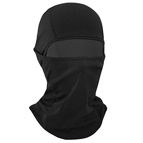 Your Choice Balaclava Face Mask for Summer Hot Weather Cycling Motorcycle Black