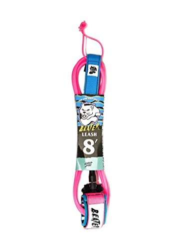 Catch Surf Beater 8' Leash, Pink/Blue