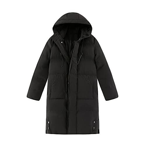 SCDZS Chaqueta acolchada de algodón para invierno, cortavientos, de longitud media, con capucha, acolchada, de algodón, para invierno, color C, talla XL: