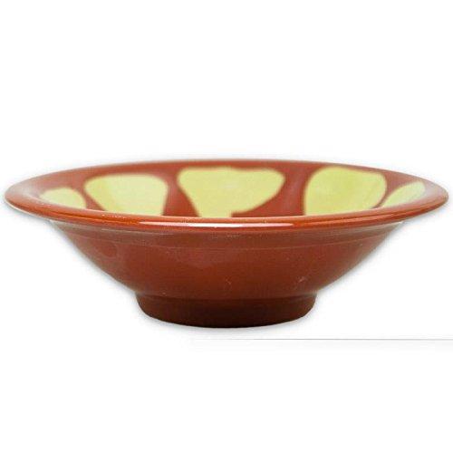 Alibabashop - Original Mezzeteller aus Melamin mit ca. 17 cm Durchmesser - Traditioneller Mezze Teller für orientalische Vorspeisen wie Hummus und Auberginenpüree