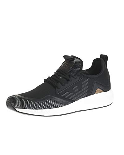 Emporio Armani EA7 MINIMAL Slip-ON U Sneaker Herren Schwarz - 41 1/3 - Sneaker Low