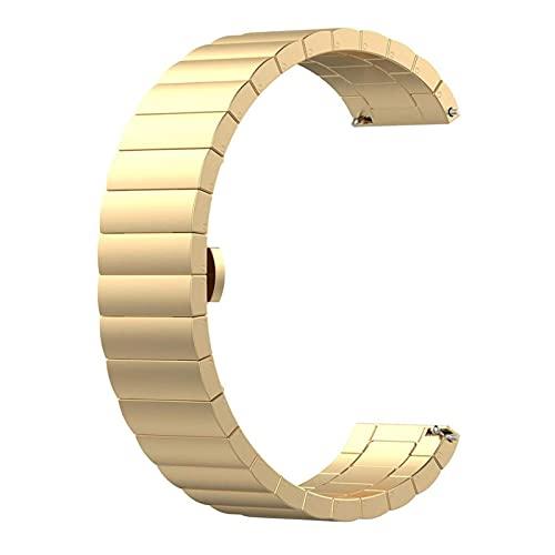 Correa de reemplazo de Pulsera de Acero para Amazfit GTR 47mm Strap Strap Fitns (Color: Gold) DAKSL (Color : Gold)
