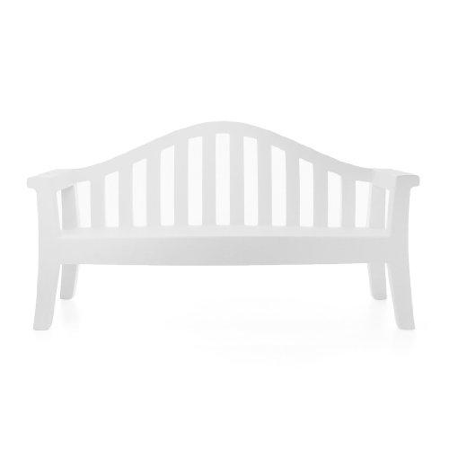 Serralunga Giulietta Gartenbank, weiß matt