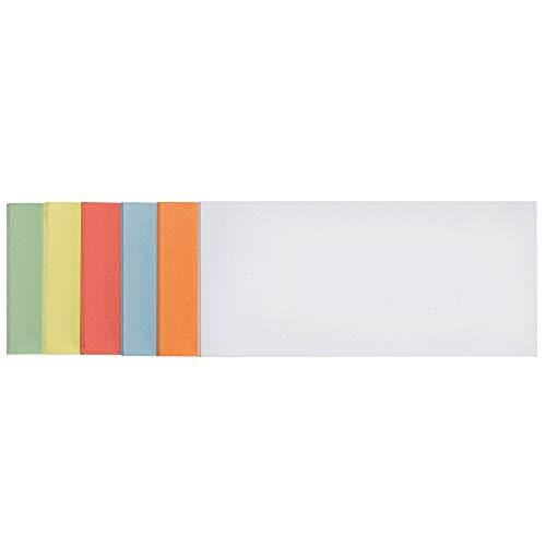 Franken UMZE 1020 99 Selbsthaftende Moderationskarten Rechteck, 205 x 95 mm, 100 Stück, sortiert