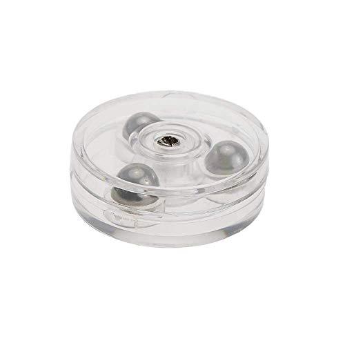 PrimeMatik - Base giratoria manual de 3 cm. Plataforma rotatoria transparente