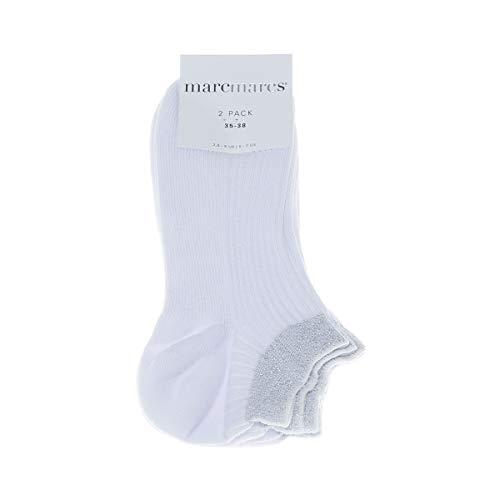 Marcmarcs Socke unsichtbare - 2 pack - Funkeln - Fine - Coton - Blanc - Moscow cotton 2-pack - 35/38