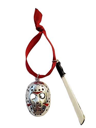 Fandom Emporium Jason Voorhees, Friday The 13th, Horror Ornament Gift Christmas Tree Winter Holiday Fandom Teen Adult Present Fan Pendant Durable