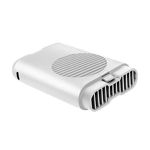LXF JIAJU Portátil Colgante Cintura Fan Linterna USB 3 Velocidad Aguantable Aire Cooler Handheld para El Uso De La Oficina De Viajes (Color : White)