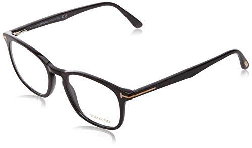 Eyeglasses Tom Ford FT 5505 001 Shiny Black, Rose Gold't' Logo, 52-19-145