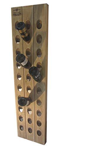 Weinregal Champagner Rüttelbrett für 30 Weinflaschen Eiche