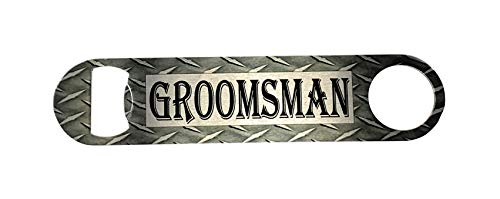 Top Shelf Flasks Personalized Custom Engraved 6oz Stainless Steel Groomsman Tuxedo Flask for Weddings, True Metal Etching Lasts a Lifetime