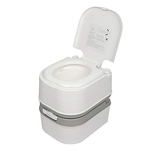 Dalkeyie 10L//20L Portable Camping Toilet Outdoor Travel Site WC Caravan Potty Commode Removable Toilet Portable Toilet for Elderly Adults Children