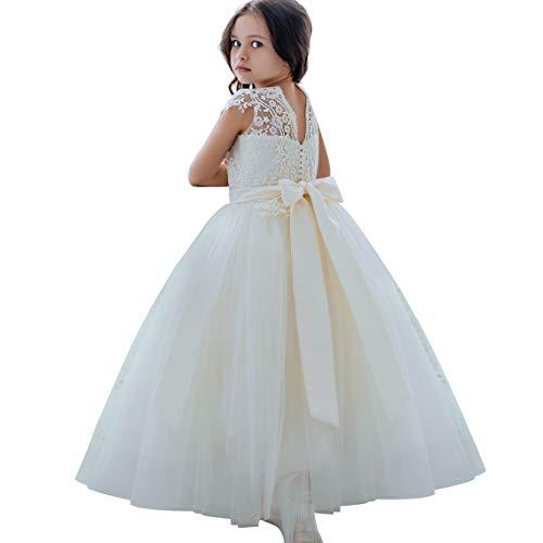 Vestidos para niñas de Flores Vestidos de Encaje para niña Vestidos Blancos...