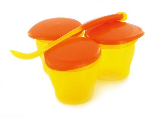 dBb Remond 3 Petits Pots et Cuillère - Jaune Translucide