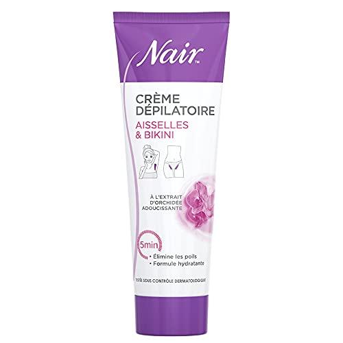 Nair - Crème Dépilatoire - Aisselles & Bikini - Formule Hydratante - Tube 100 ml et spatule