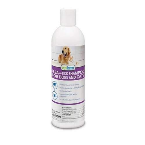 Vet-Kem Flea Tick Shampoo Dogs Cats 12oz