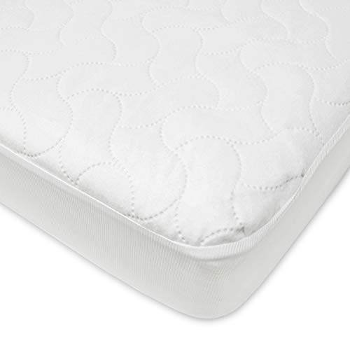American Baby Company Waterproof Fitted Twin Size Protective Mattress Pad Cover, White