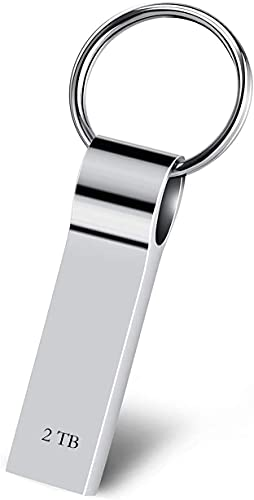 Topjey Memoria USB 2TB Pendrive USB 3.0 Impermeable Memory Stick Flash Drive con Llavero Almacenamiento Disco Duro Externo para Computadoras, Tabletas (2TB)