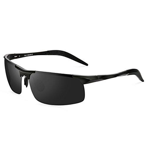 WYJL Sonnenbrillen Männer Polarisierte Sonnenbrillen Gezeiten Sonnenbrillen Herren Fahren Spezielle Polarisations - Spiegel Aluminium und Magnesium Drivers 'Mirrors Brille (Farbe : A)