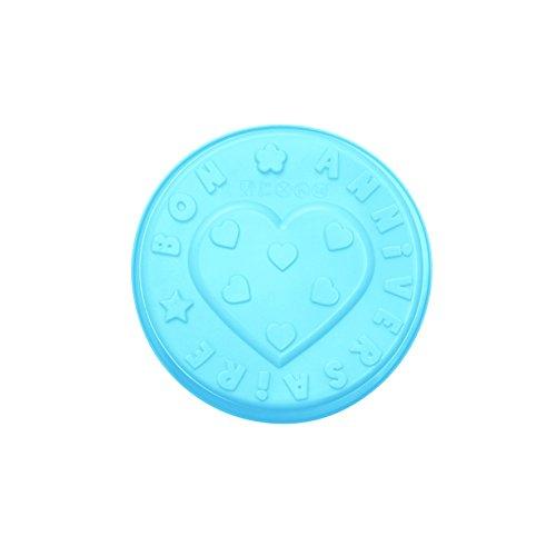 Saveur & Degustation KP5008 Moule Bon Anniversaire Silicone Vert/Rose/Bleu 32 x 27 x 7 cm *Coloris Aléatoire*