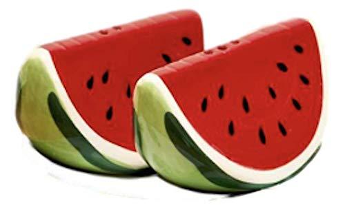 Two's Company Salz- und Pfefferstreuer Fresh Picked Obst in Geschenkbox, Wassermelone auf Teller