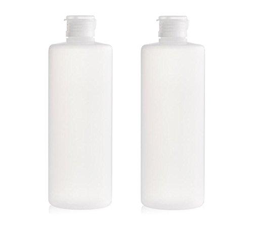 2 Stück 400 ml transparent leer Reise nachfüllbar PE-Kunststoff Weiche Röhren Flasche Emulsion Verpackung Fall Make Up Cosmetics Behälter für Facial Cleanser Shampoo Cleanser Dusche einfach zu Squeeze