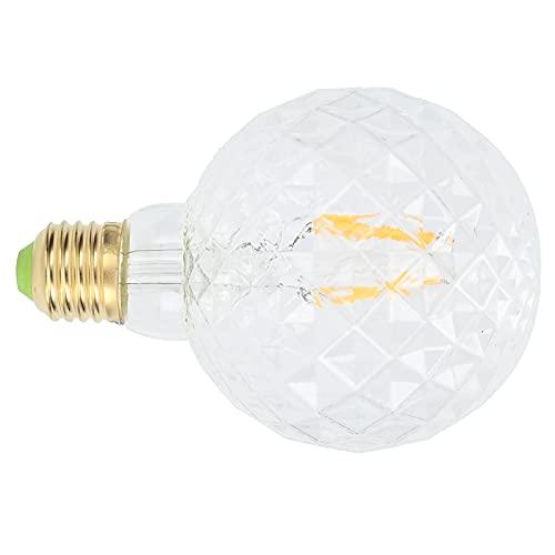 QIRG Lampadina Decorativa a LED, Lampada a filamento ad Alta luminosità E27 Mandrino a Vite per Soggiorno per Bagno per Camera da Letto(Trasparente)