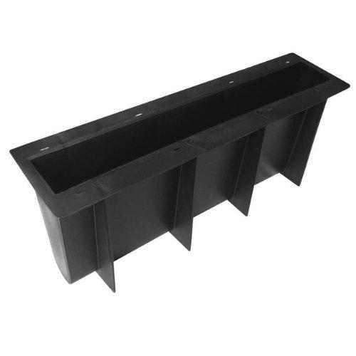@tec Betonform Schalungsform Gießform Plastikformen für Beton, Rasenkante - Rasenrandstein - Bordstein - Randstein - Beeteinfassung - Beetumrandung - Beetbegrenzung - 50x21x7 cm
