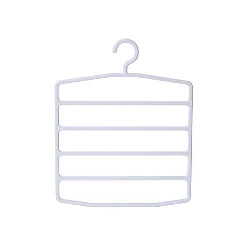 CHUITF ruimtebesparende kleerhangers met 5 lagen robuust en praktisch organisatiepak voor broeken, handdoeken en kleding, broeken, opbergen, eindbewerking