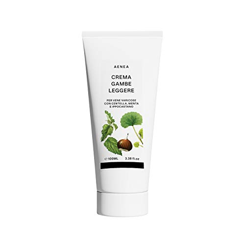 AENEA - Crème contre les varices et les jambes et chevilles enflées, 100 ml - Avec Centella, Menthe et Marron d'Inde naturel - Stimule la circulation sanguine