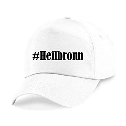 Reifen-Markt Base Cap Hashtag #Heilbronn Größe Uni Farbe Weiss Druck Schwarz