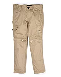 Indian Terrain Boys 8 Pocket Solid Cargos