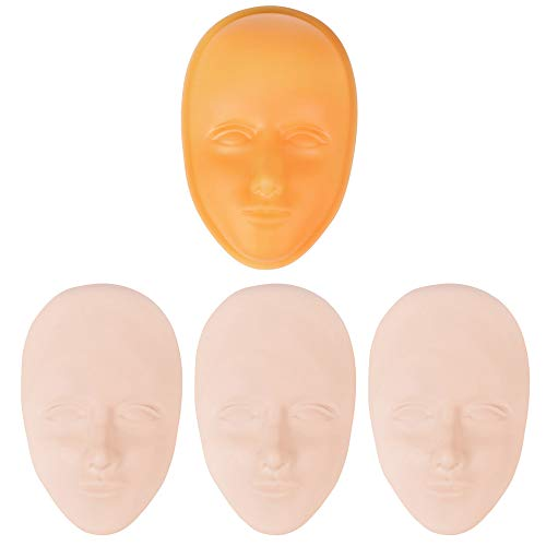 3 stücke 5D Silikon Facial Tattoo Praxis Haut Kopf Augenbrauen Eyeliner Lippen Formen + 1 stücke Basis für Microblading Permanent Makeup Beauty Training