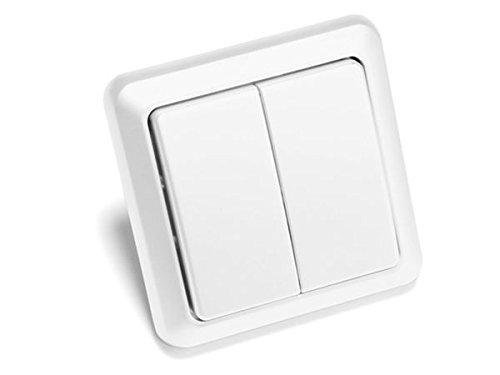Intertechno Smart Home ITW 852 Funk Wandsender weiß 2 fach 2 Kanal