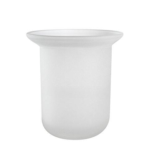 Ambiente Badserie Ersatzglas für WC-Garnitur aus satiniertem Glas