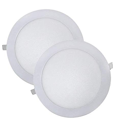 Led Atomant Pack 2x Panel Downlight LED Redondo de empotrar, 18w. Color Blanco Neutro (4500K), 1600 Lumenes. Driver incluido. A++