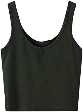 SweatyRocks Women s Sleeveless Casual Ribbed Knit Shirt Basic Crop Tank Top Black S product image
