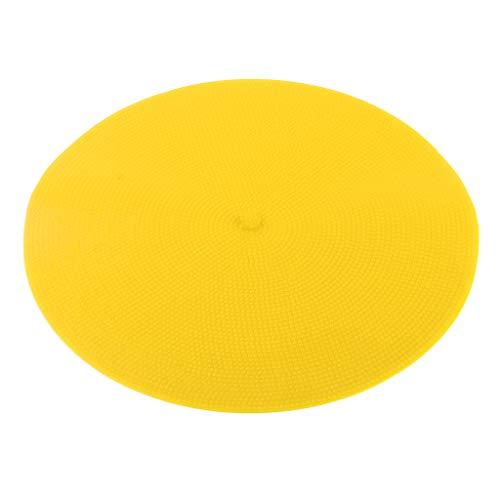 Hellery Disco de Goma Plano Marcadores de Puntos Conos Círculos Resistentes Al Desgaste de 9 Pulgadas de Diámetro - Amarillo