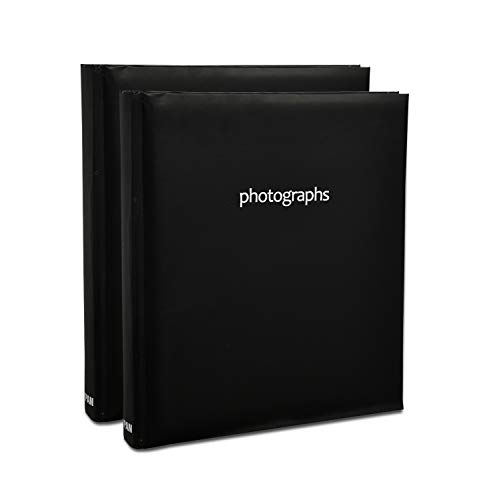 ARPAN 200 x 15 x 10 cm Fotos, CD/DVD, Espacio para Escribir Notas de Bolsillo, Regalo, Color, Negro Pastel, Album Size: W 23 cm x L 23 cm x H 5 cm (Approx)