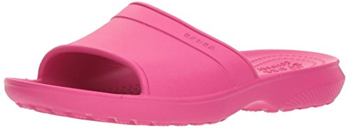 Crocs Classic Slide Kids 204981-6x0, Sandali a Punta Aperta Unisex-Bambini, Rosa (Candy Pink), 33/34 EU