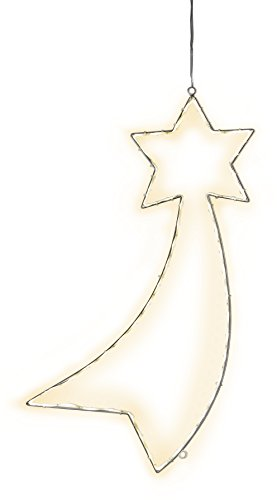 Star Silhouette Lumiwall, 54 warmweisse LED, Metall, Silber, 3.5 x 60 x 30 cm