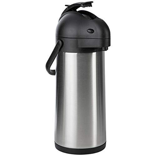 ONVAYA® Airpot Pumpkanne | Isolierkanne | Thermoskanne | Getränkespender | Edelstahl mattiert | Kaffeekanne | Doppelwandig (3 Liter)