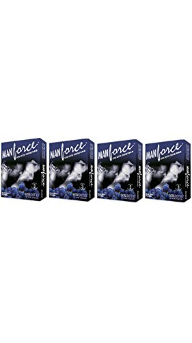 Manforce Extra Dotted Black Grapes Flavoured Condom (Set Of 4 40S)
