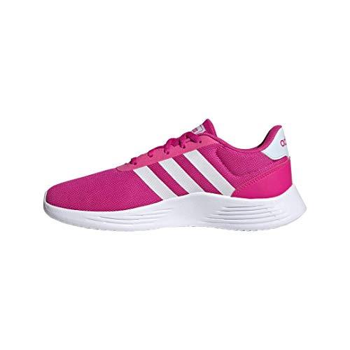 adidas Unisex-Child Lite Racer 2.0 I Sneaker, Shock Pink/FTWR White/Sky Tint, 4 M US Big Kid