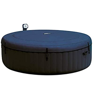 Intex Pure Spa Inflatable 6 Person Outdoor Bubble Hot Tub and 2 Seat Inserts