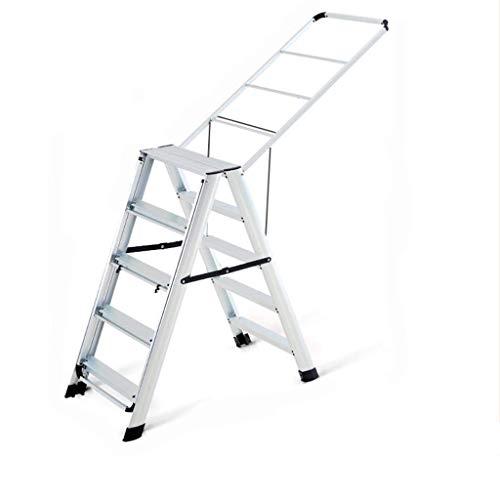 Huishouden s, goederen for tweeërlei gebruik Bilaterale Stepladders Barbershop Handdoekrek Balkon Quilt Ladder (Kleur: C, Afmetingen: 50 * 100 * 160cm) XIUYU (Color : C, Size : 50 * 100 * 160cm)